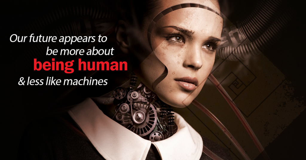 The Pursuit of Knowledge in 20 Years - our future appears to be more about being human & less like machines