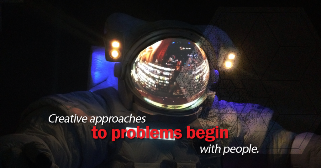 human-centred design, creative approaches to problems begin with people